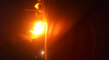 Fire engulfs Trinity Bus from Rwanda to Kampala